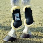 Open fronted sheepskin lined boots pony