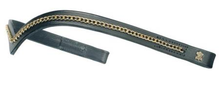 Browband with Gold chain, V shape browbands