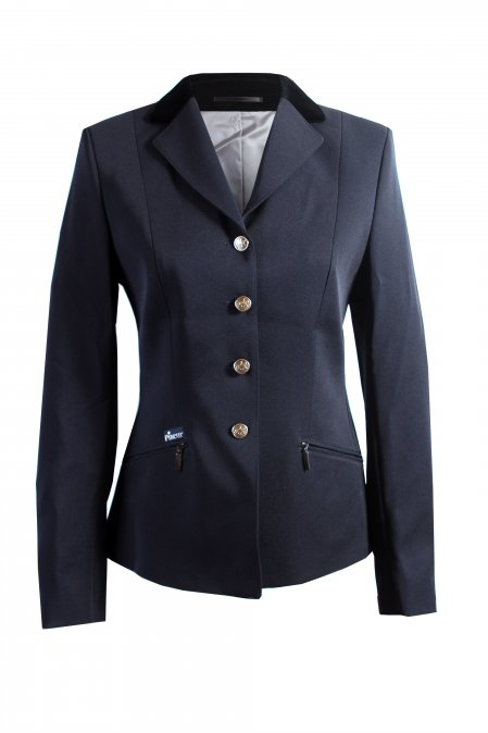 Skarlett Show Jacket, a shaped fit jacket with Black velvet collar
